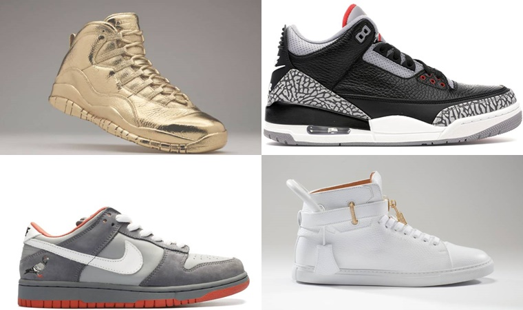 list of the 5 most expensive sneakers to date