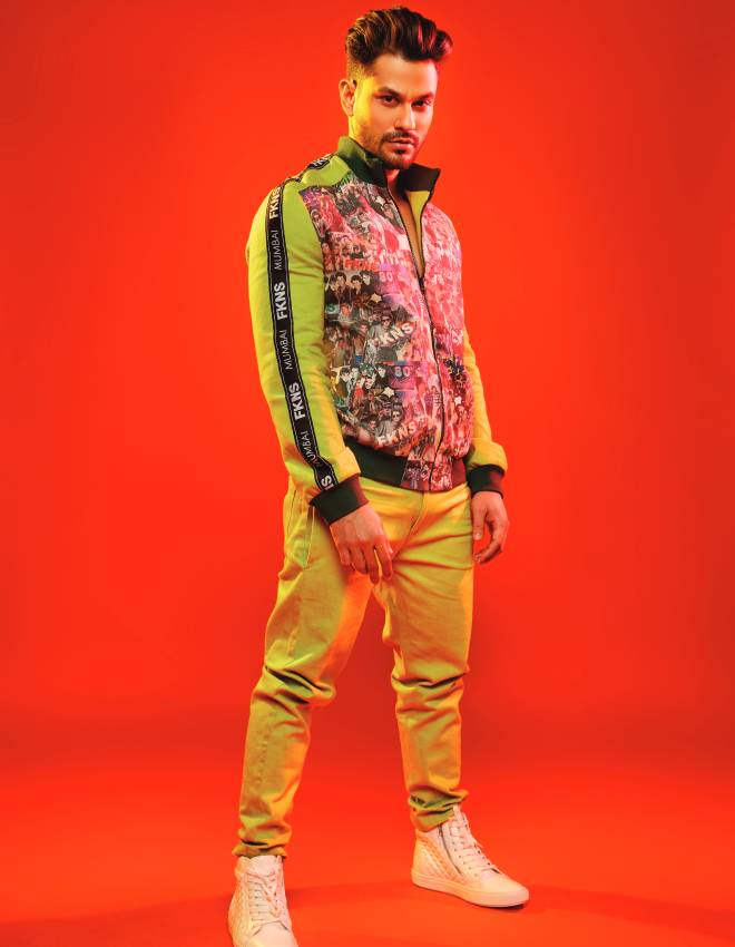 Jacket and trousers, Narendra Kumar; Shoes, Steve Maiden