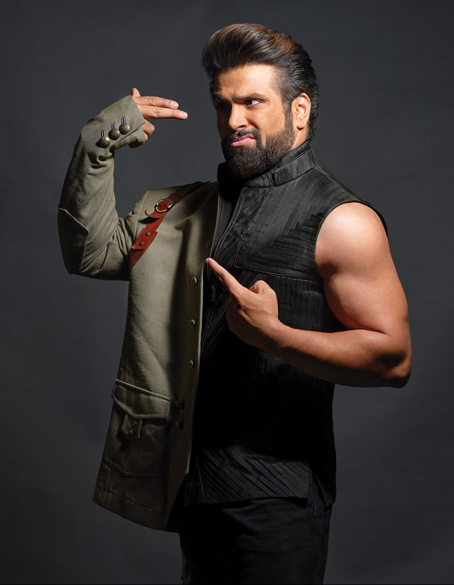 rithvik dhanjani flexing muscles