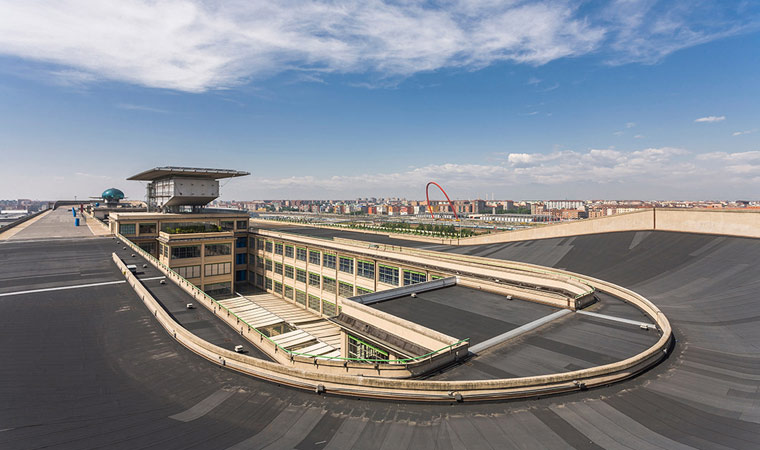 Fiat's Lingotto factory in Turin, Italy, designed by Giacomo Matte-Trucco is considered the first futurist construction in the world, way back in 1934