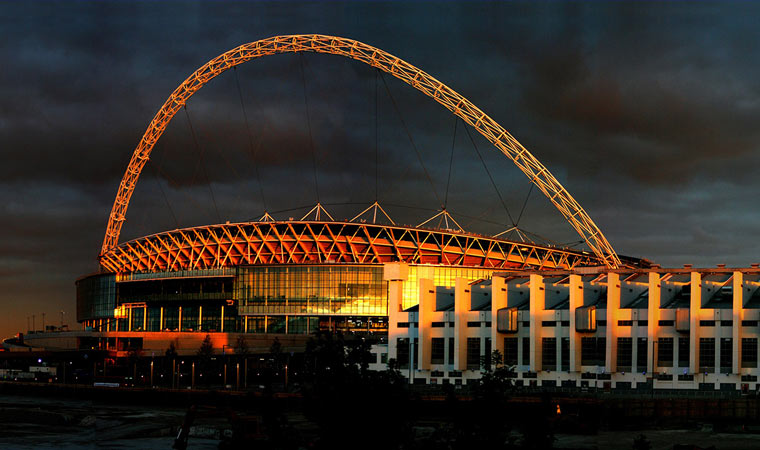 The design of London's Wembley Stadium is like a link from the past to the future