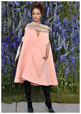 Rihanna at the Christian Dior show at Paris Fashion Week. Her tie-up with the luxury major is a classic example of how the association gives such brands a wider digital footprint.