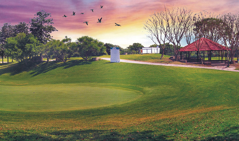 Golfcourse at an ITC property. The hotel group's tagline 'Responsible Luxury' has made a connect with environmentally conscious guests. a