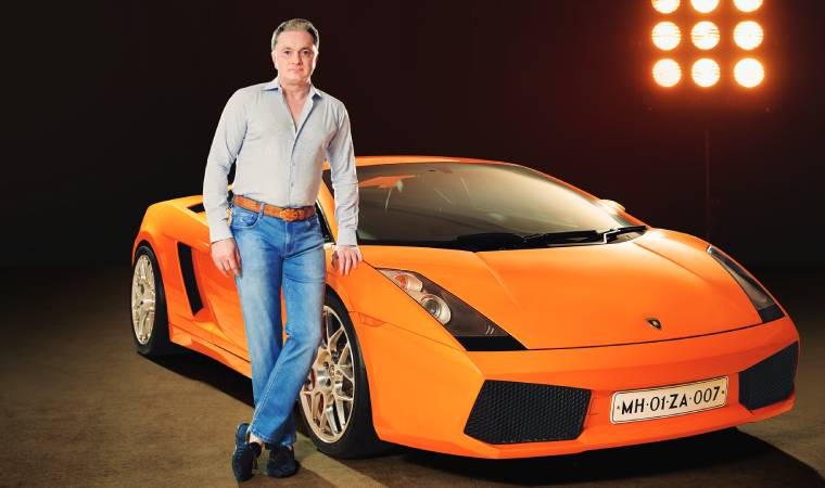 "An auto rickshaw is parked alongside Mr. Singhania's many supercars — ""A bespoke auto rickshaw with a wild music system!"" — and the Bombardier jet we're curious about has been marked for sale on the day of our meeting."