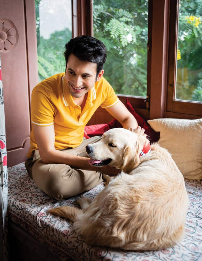 rohit saraf with dog