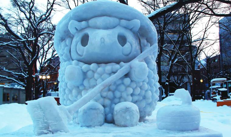 The Sapporo Snow Festival with some of the finest ice sculptures in the world is a great time to visit.