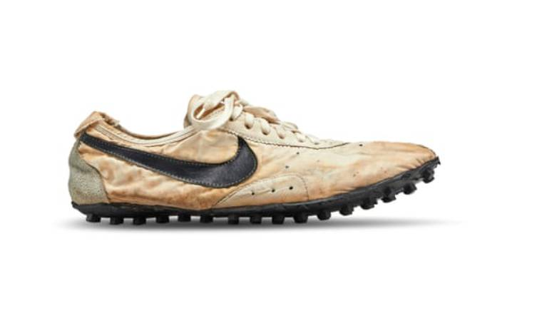 The Moon Shoes were designed by Nike co-founder and track coach Bill Bowerman for runners at the 1972 Olympic trials.