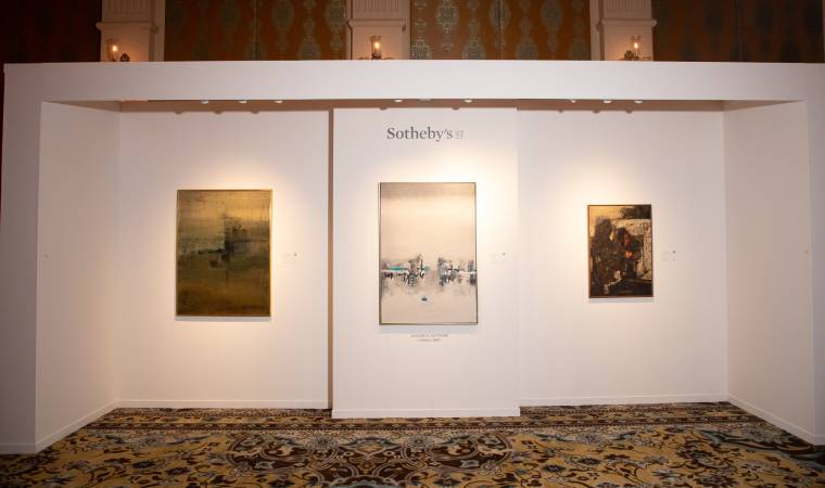 The preview at The Leela Palace Delhi on February 20, 2019 had small teaser of works.